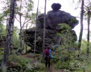 Echse, als Klettergipfel anerkannte Quacke am Töpfer bei Oybin
