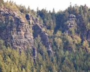 Felsrippe des Klettersteiges Alpiner Grat an der Oberen Felsengasse