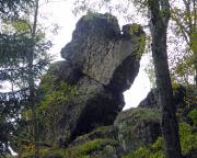 Silberrücken, Gipfelkopf dieser Quacke neben der Rübezahlwand