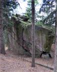 Untere Dianawand, auch Lessewand, Quacke im Gebiet Weißbachtal