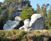 Hexehnstein und Fausthandschuh, Quacken mitten in Oybin