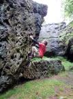 Boulderspaß am Käsestein in der Nähe der Töpferbaude