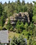 Thomasfelsen in Oybin, ein gut zu erreichender Klettergipfel