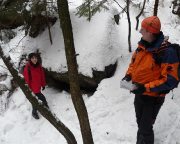 Geocaching Gautschgrotte Winter 4477